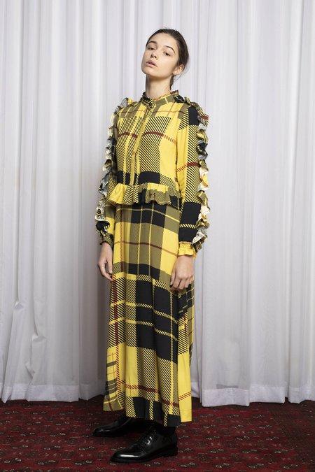 SALASAI MODERNIST DRESS - DISRUPTION PLAID