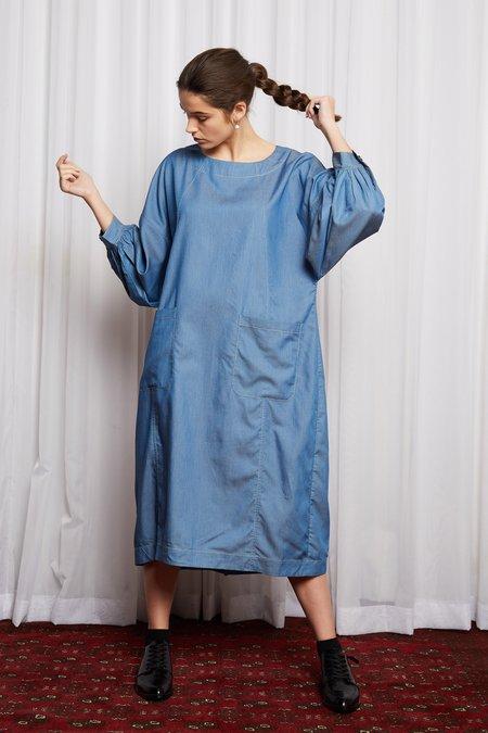 SALASAI ROMANTICS DRESS - BLUE DENIM TENCIL