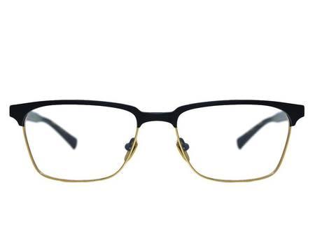 DITA Senator Two 55 Glasses - MATTE BLACK/18k GOLD