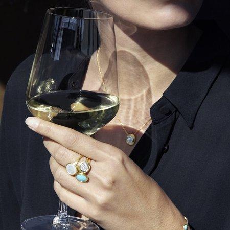 Marco Bicego Delicati 18K Yellow Gold & Diamond Pave Bead Pendant Necklace