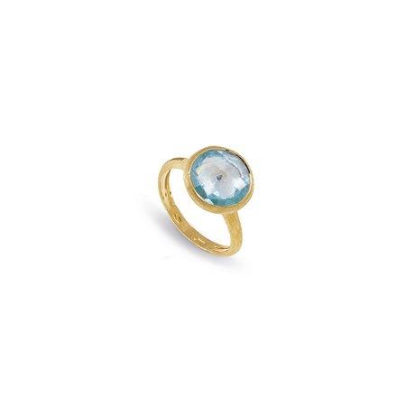 Marco Bicego Jaipur Blue Topaz Medium Stackable Ring - 18K Yellow Gold