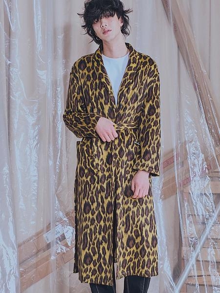 Unisex HOLY NUMBER 7 Mohair Leopard Long Cardigan