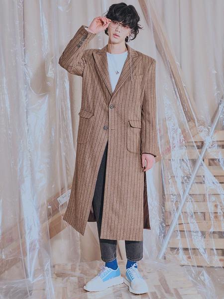 Unisex HOLY NUMBER 7 Wool Single Long Coat