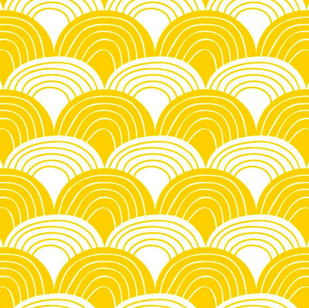 Kids Swedish Linens Organic Fitted Sheets - Mustard Yellow