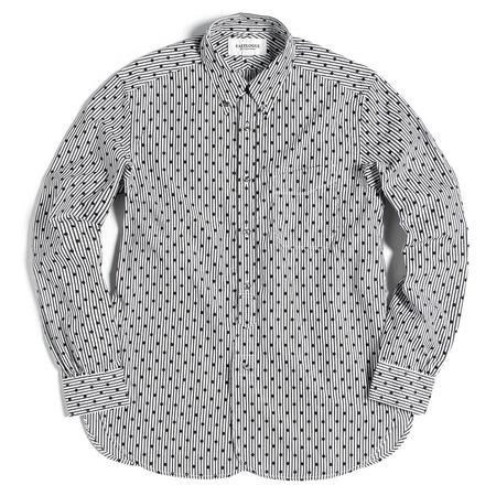 Eastlogue Button Up Shirt - Black Dot/Stripe