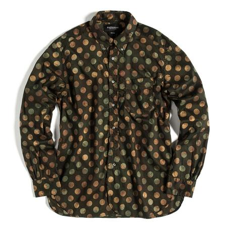 Eastlogue Button Up Shirt - Dark Olive Dot