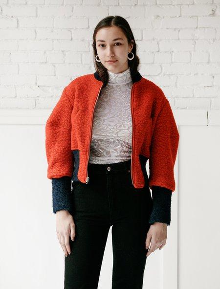 Eckhaus Latta Womens Bomber - Rust Orange
