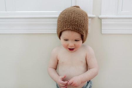 KIDS Petit Kolibri BABY ALPACA BEANIE - BROWN