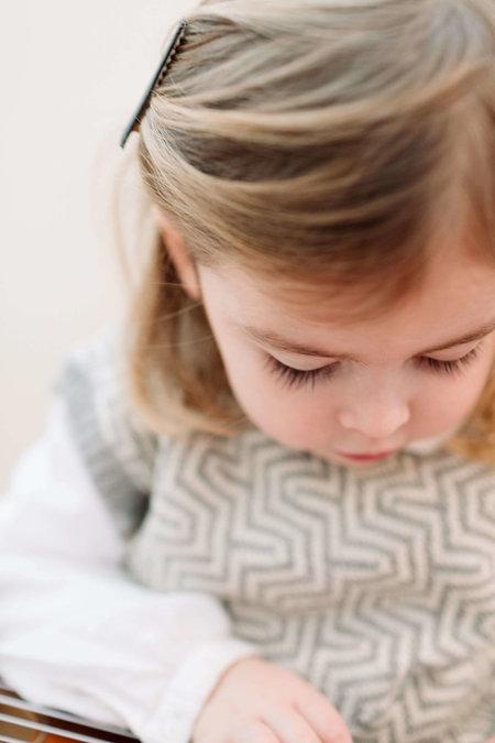KIDS Petit Kolibri ORGANIC BABY ALPACA TEXTURE VEST - GREY