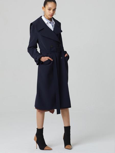 HAE BY HAEKIM Sailor Collar Coat - Navy