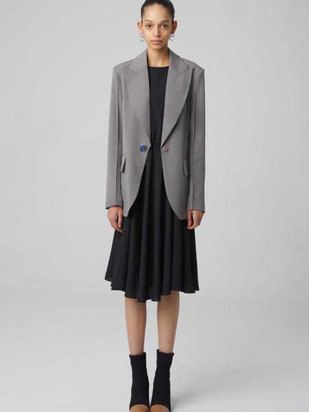 HAE BY HAEKIM Button Tailored Jacket - Grey