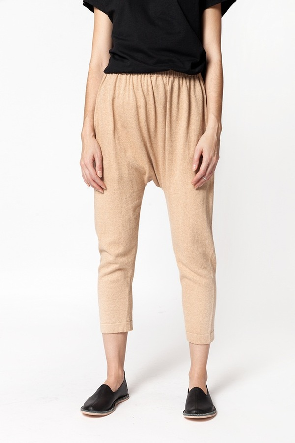 Lauren Manoogian Cropped Skinny Arch Pant - brown