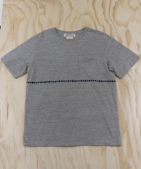 Remi Relief Indigo JQ Switching Border Tee - HEATHER GRAY