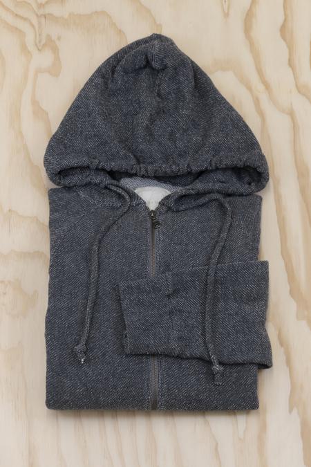 V :: ROOM Gauze Fleece Basic Long Sleeve Zip Hoody - Heather Charcoal