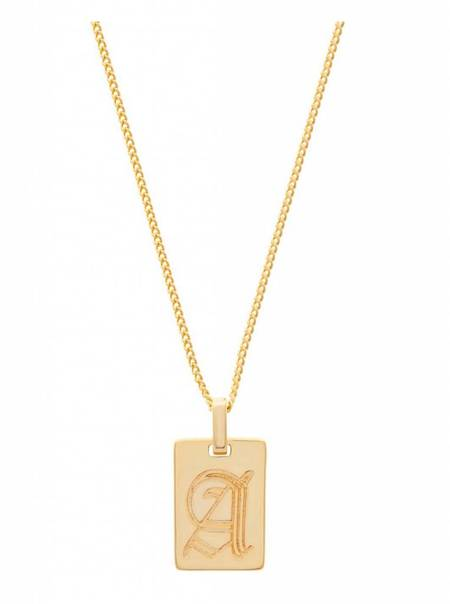 Girls Crew Initial Necklace - 18k Gold