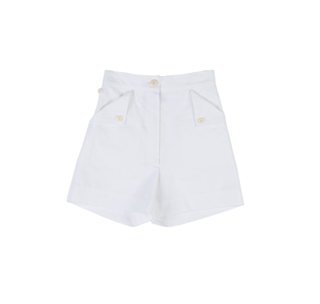 Ilana Kohn Huxie Shorts in Chalk Ctn/Linen