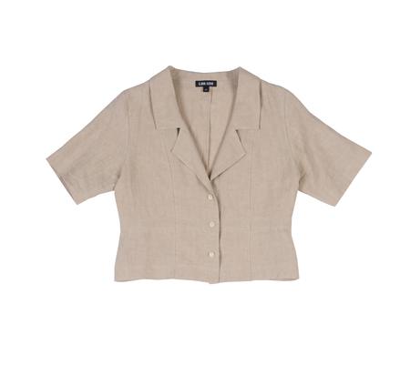Ilana Kohn Oliver Shirt in Oat Linen