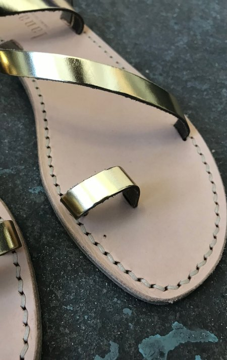 Lanapo leather sandals - Metallic Gold