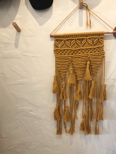 Claudine Lally Macrame Wall Hanging with Tassels - Marigold