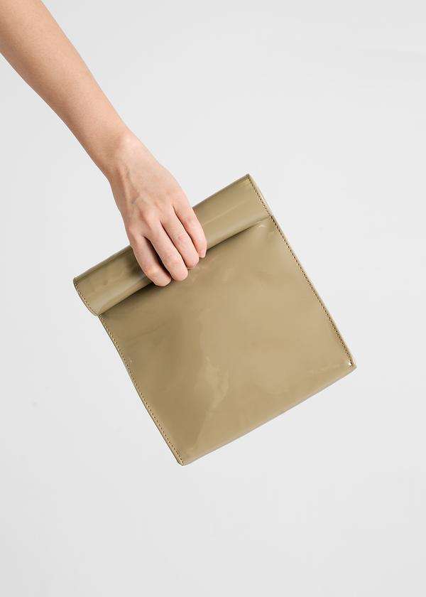 S M K Ash Brown Foldover Bag
