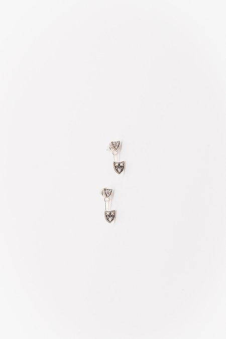 Marie Laure Chamorel Argent Massif Earrings - Antique Silver