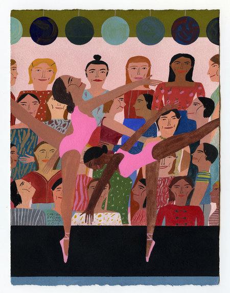 "Chelsea Wong ""Kissy Kissy at the Ballet"" Artwork"