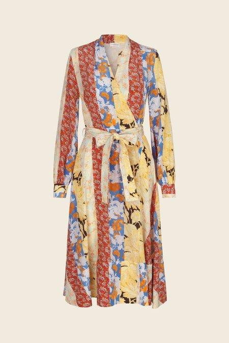 a73223941d4 Stine Goya Reflection Silk Wrap Dress - Floral Wallpaper ...
