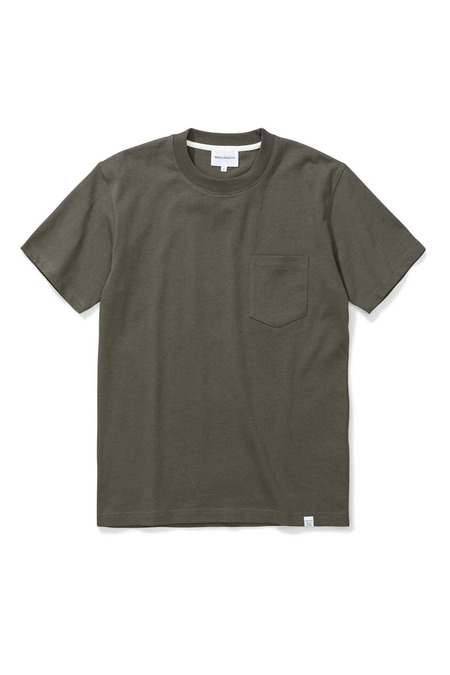 Norse Projects Johannes Pocket T-shirt - Ivy Green