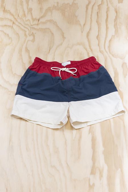 Solid and Striped The Classic Colorblock Americana Swim Short