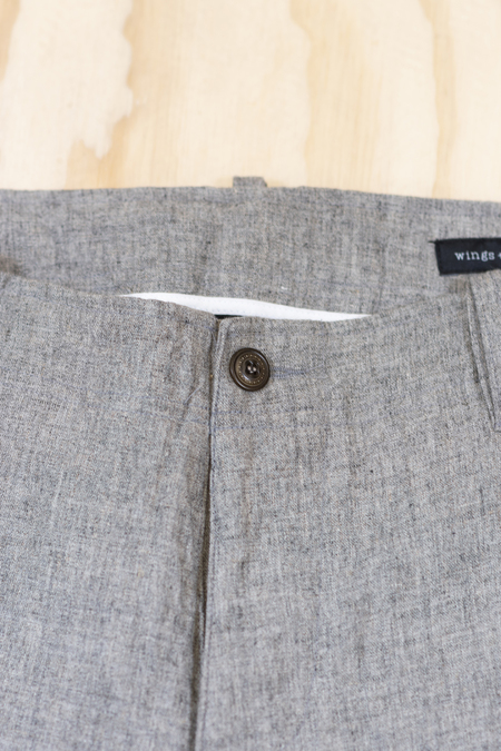Wings + Horns Grey Linen Pant