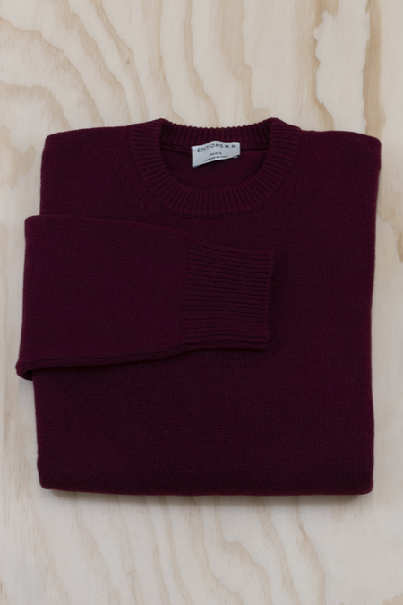 Editions MR Burgundy Alain Wool Cashmere Sweater