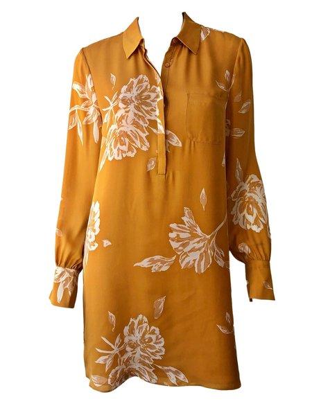 Joie Amaranda Printed Shift Dress - dusty gold