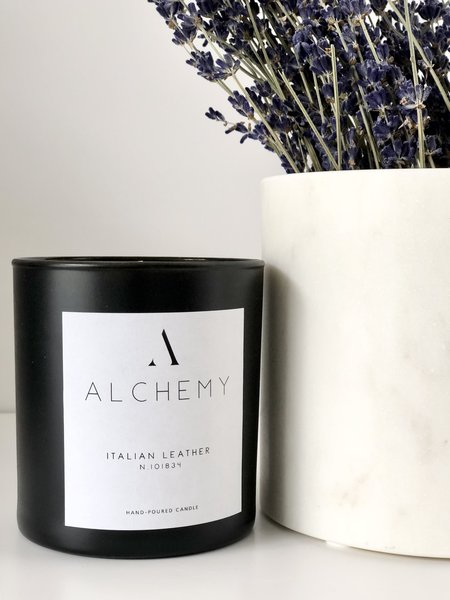 Alchemy Co. Italian Leather Candle