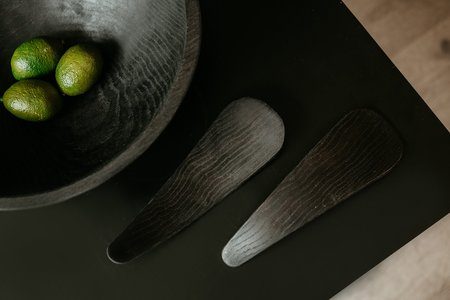 CLEMENTINE'S Ebonized Round Bowl - Black