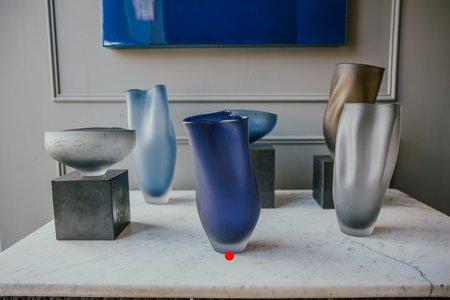 Jeff Goodman Studio Glass Vessel - Midnight