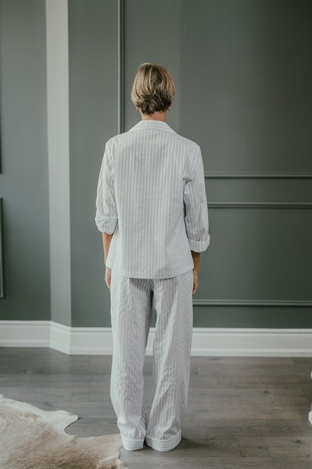 KIP. Sleepwear PJ Set - Grey Stripe