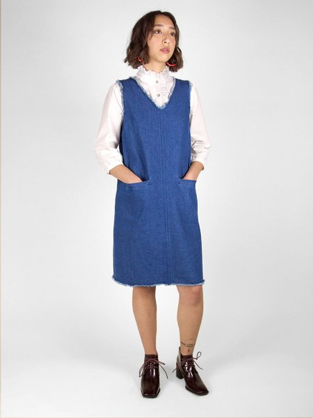 &Another Elvia Raw Edge Dress - Denim