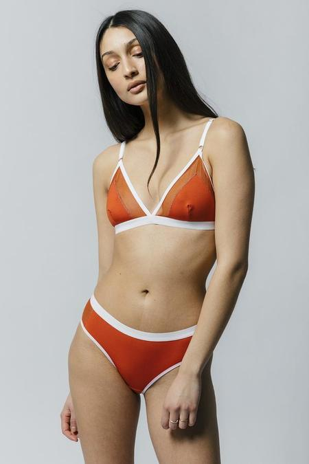 Mary Young Contrast Bra - Orange