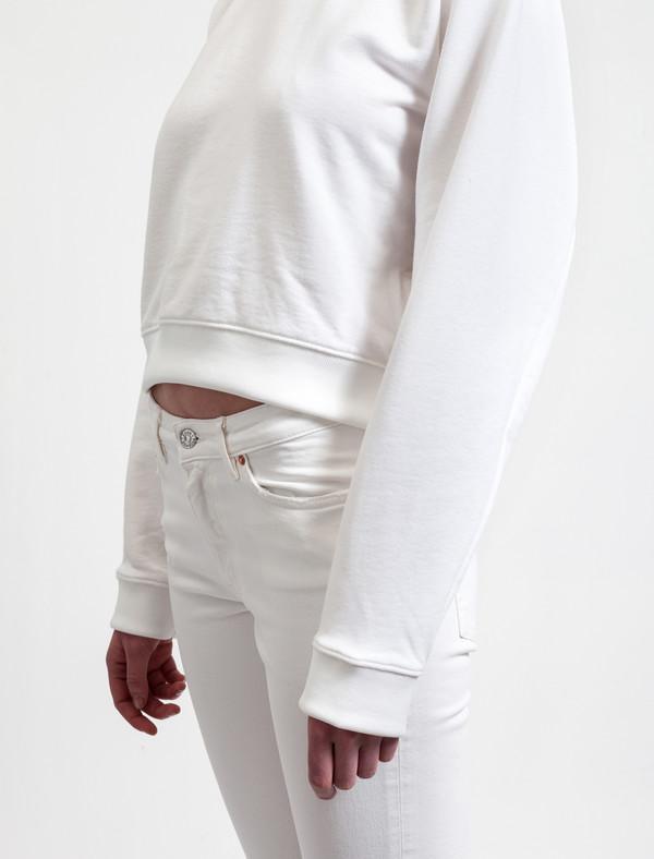 Acne Studios Bird Fleece Pearl White