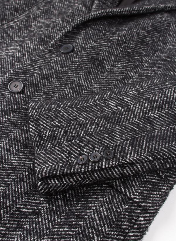 Men's AMI Alexandre Mattiusi 3 Button Classic Coat Herringbone