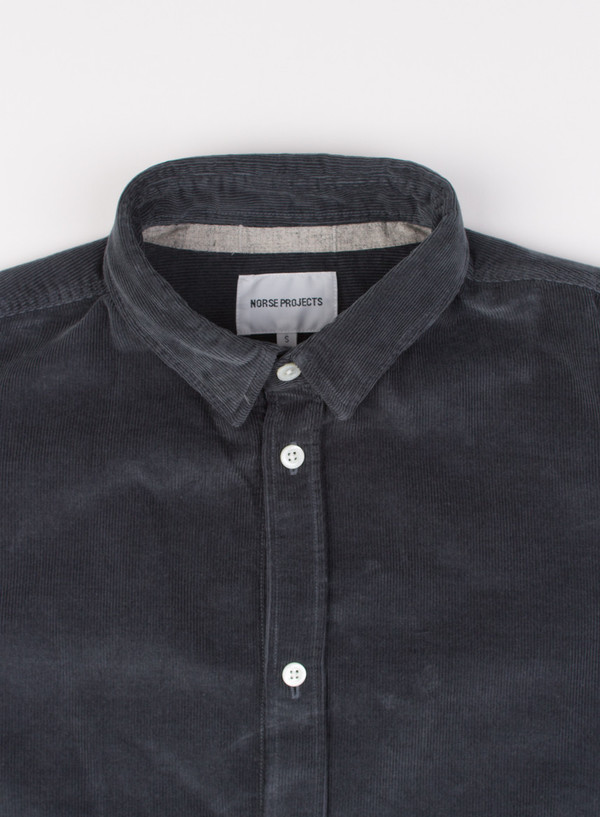 Men's Norse Projects Aaron Fine Corduroy Mouse Grey