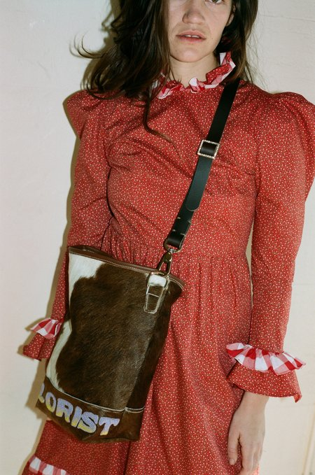 Florist Purple/Orange Embroidery Bag