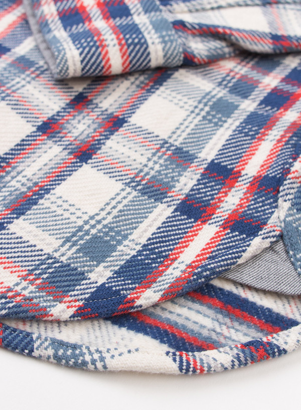 Men's Alex Mill Brushed Twill Plaid Shirt Blue/White/Red