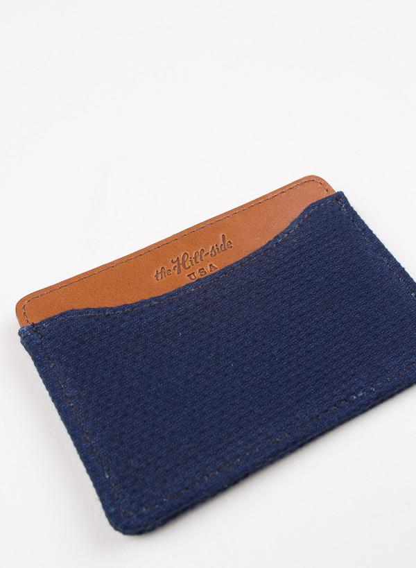 The Hill-Side Card Case Lightweight Indigo Sashiko