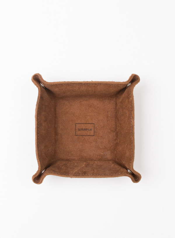 MAPLE Desk Tray Tan Leather