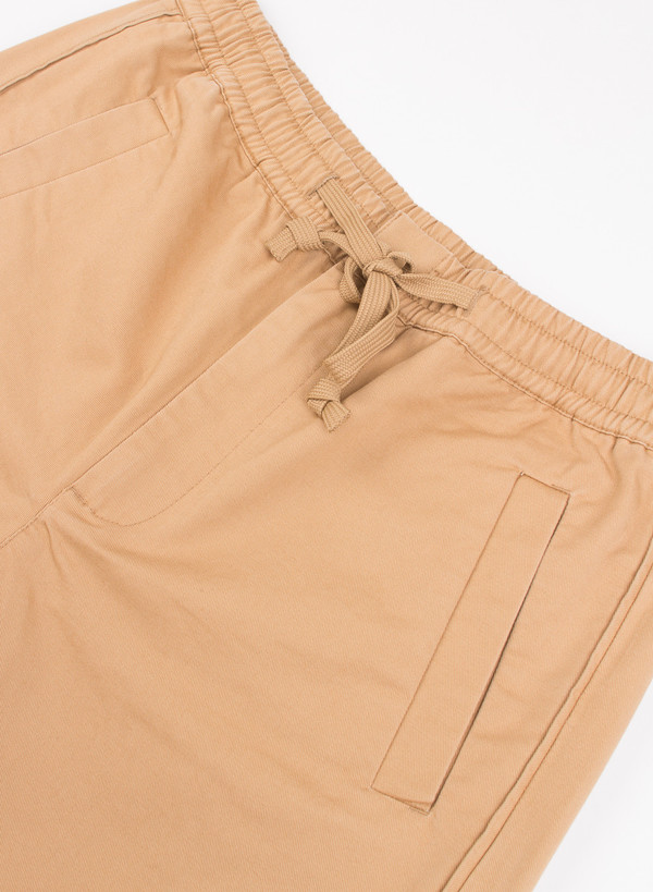 Men's Folk Drawcord Shorts Mud Brown