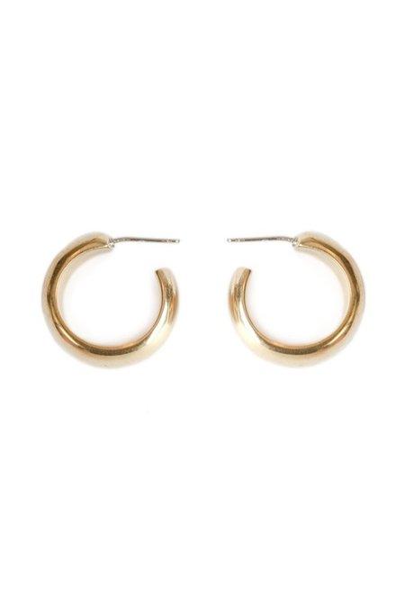 Soko Mini Bold Hoops - Brass