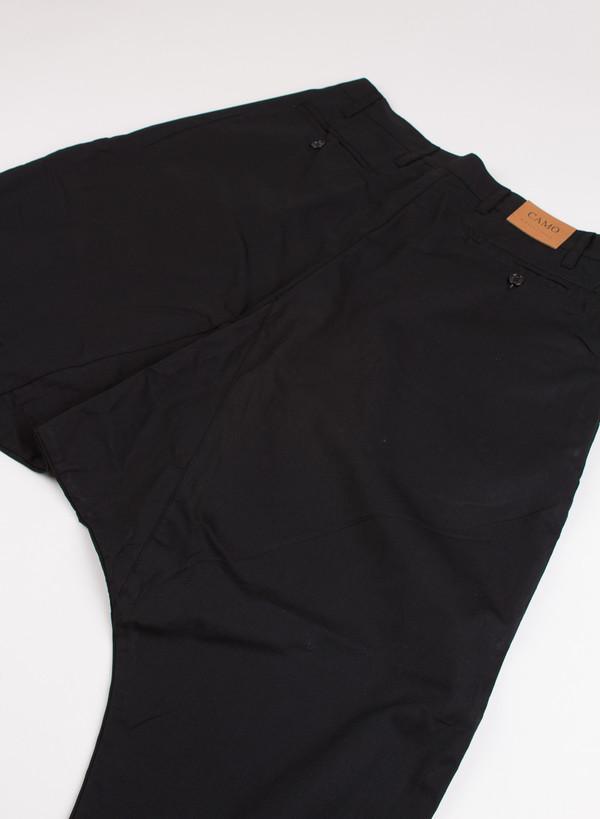 Men's Camo Fort Worth Rider Trousers Black Popeline