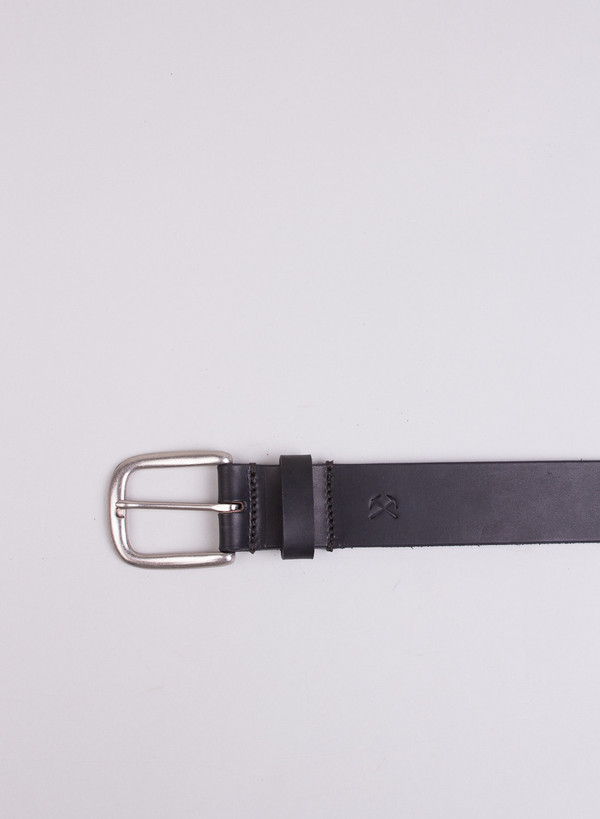 Men's 3Sixteen Heavyweight Stitched Belt Black