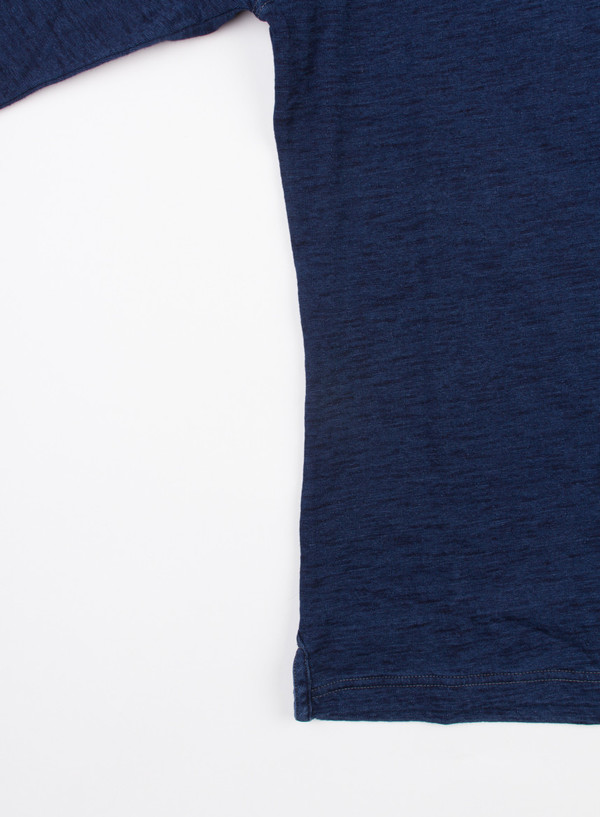 Men's Alex Mill Indigo Double Knit Henley